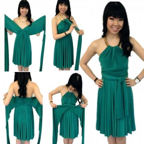 Платье-трансформер — каждый раз новый образ