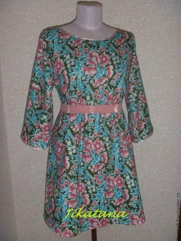 Платье без выкройки для дома и не только