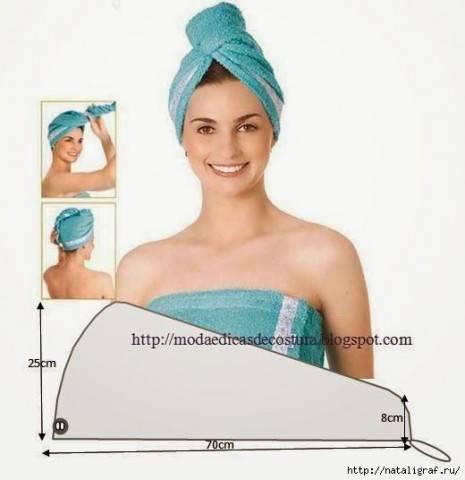 Лайфхак для сушки волос: полотенце особенной формы