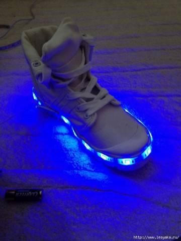 Кроссовки с подсветкой своими руками