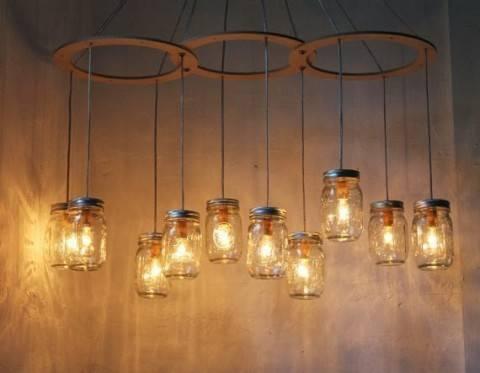 Крутой светильник своими руками из подручных материалов