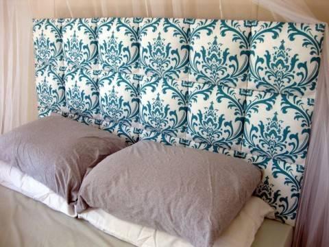 Свежая идея: как сделать мягкое изголовье кровати своими руками