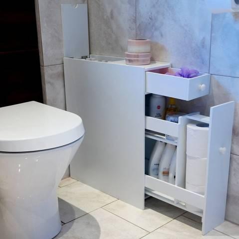 Очень нужный шкафчик для ванной комнаты своими руками