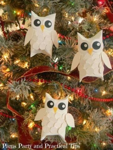 Легкая в исполнении новогодняя игрушка сова своими руками